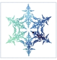 watercolor beautiful snowflake on a white vector image vector image