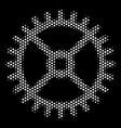 white dot clock gear icon vector image
