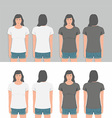 Women t-shirt design template vector image vector image