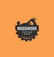 woodwork logo vector image vector image