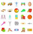 yard entertainment icons set cartoon style vector image vector image