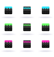 zigzag icons vector image vector image