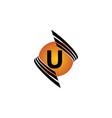 technology letter u vector image