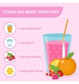 Citrus and berry smoothie recipe with ingredients vector image