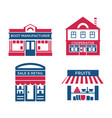 digital red blue supermarket vector image