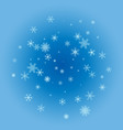 a winter background with snowflakes vector image