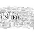 america the dictatorship text word cloud concept vector image vector image