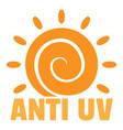 anti uv sun logo flat style vector image vector image