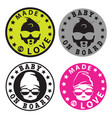 baby on board hipster style stickers vector image