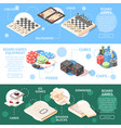 board games isometric banners vector image