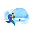 businessman running after bus vector image