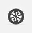 car wheel icon or logo vector image vector image