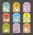 cards with kitchen ware vector image