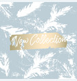 christmas tree cone painting winter vector image vector image