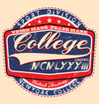 college spiritscollege graphics for t-shirt vector image vector image