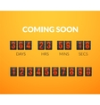 Coming Soon flip countdown timer panel vector image vector image