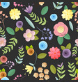 craft paper flowers pattern seamless background vector image vector image