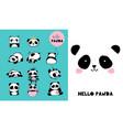 cute panda hand drawn elements vector image vector image