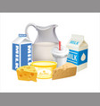 dairy product 02 vector image vector image