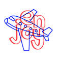 doodle enjoy travel plane summer holiday travel vector image