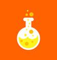 Flat icon on background halloween potion bottle