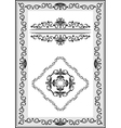 Frame with details of the ethnic ornament vector image vector image