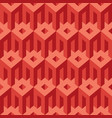geometric seamless pattern with simple 3d elements vector image