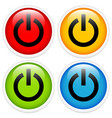 glossy power button icon set vector image vector image