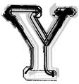 Grunge font letter Y vector image vector image