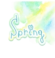 Hand drawn watercolor spring EPS10 vector image vector image