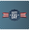 Happy Memorial Day Banner with Text vector image vector image