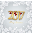 Happy New Year 2017 Christmas Card vector image