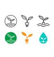 hydroponics plants logo and symbol design vector image