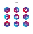 icon pack music modern style vector image