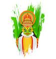 Kathakali dancer vector image vector image