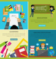 learning and online education lesson web banner vector image vector image