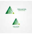 Logo combination of a triangle and signal vector image