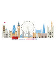 london england and united kingdom landmarks vector image vector image