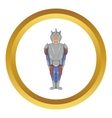 Medieval knight icon vector image vector image