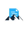 mountain document logo icon design vector image