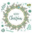 new year and christmas greeting card hand drawn vector image vector image