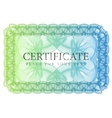 Pattern that is used in currency and diplomas vector image vector image