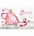perfume background cosmetic product fragrance vector image vector image