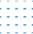 pig icon pattern seamless white background vector image vector image