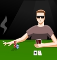 Playing poker vector image vector image