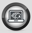 poker website icon vector image