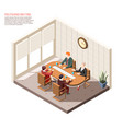 politicians meeting isometric composition vector image vector image