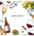 realistic wine template vector image vector image