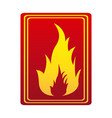 red color signal silhouette fire flame icon vector image vector image