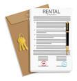 rental agreement concept rental agreement keys vector image
